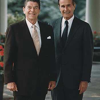The official portrait of President Ronald Reagan and Vice-President George Bush in 1981.