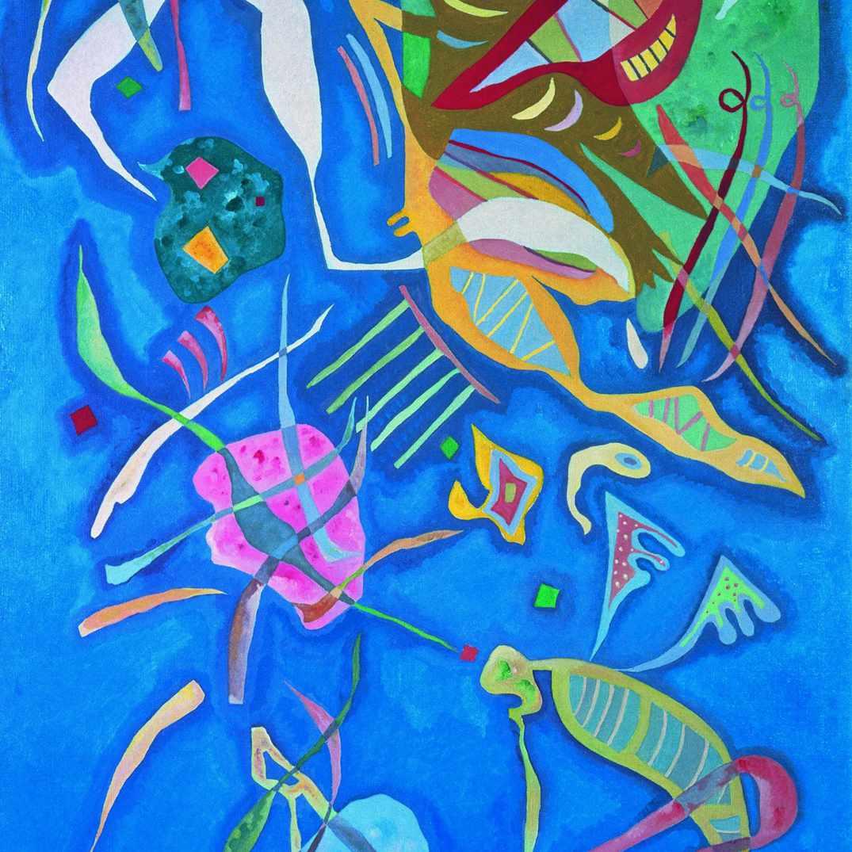 Wassily Kandinsky (Russian, 1866-1944) Wassily Kandinsky (Russian, 1866-1944). Grouping (Groupement), 1937. Oil on canvas. 57 7/16 x 34 5/8 in. (146 x 88 cm). Moderna Museet, Stockholm.