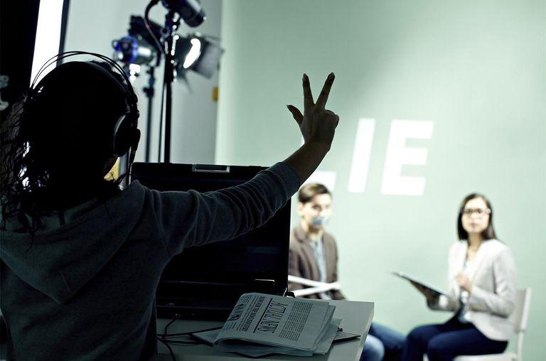 Cameraman shooting TV show