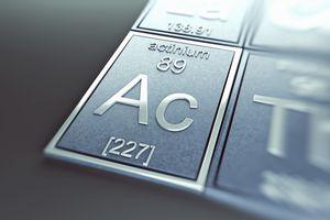 Actinium is a radioactive actinide element.