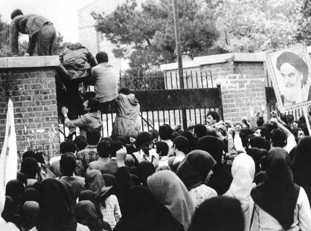 raninan students invade the U.S. embassy in Tehran, November 4, 1979
