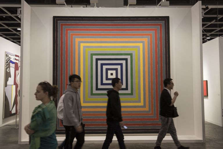 Frank Stella painting at Art Basel Hong Kong
