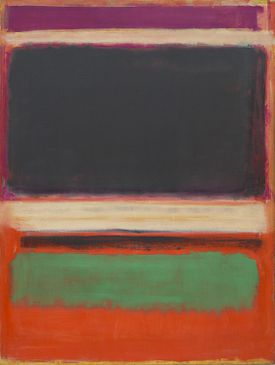 Mark Rothko (American, b. Latvia, 1903-1970). No. 3/No. 13, 1949. Oil on canvas. 85 3/8 x 65 in. (216.5 x 164.8 cm). Bequest of Mrs. Mark Rothko through The Mark Rothko Foundation, Inc. The Museum of Modern Art, New York.