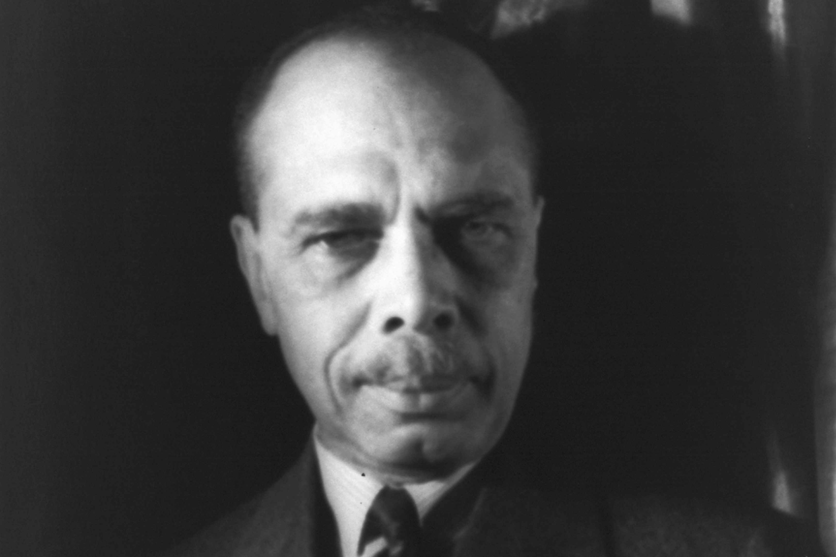 James Weldon Johnson with a serious expression on his face
