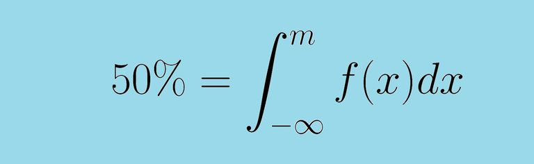 integral for calculating the median m of a random variable