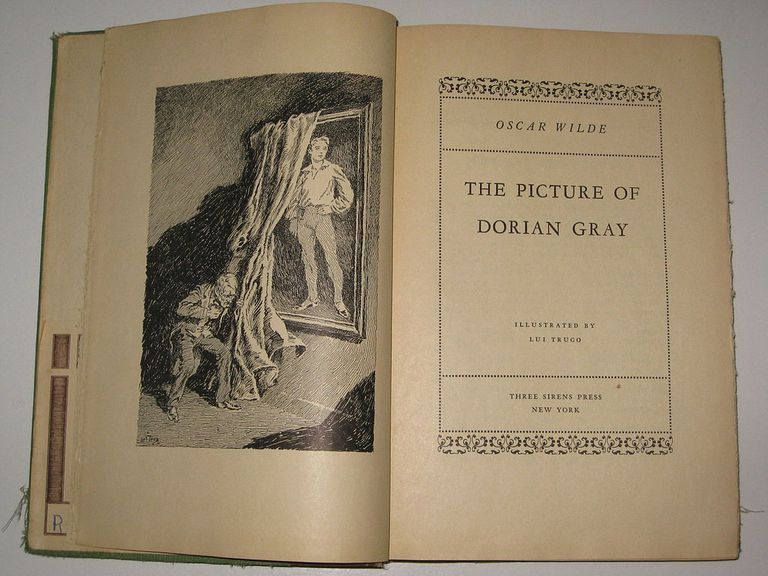 The picture of dorian gray open to the first page