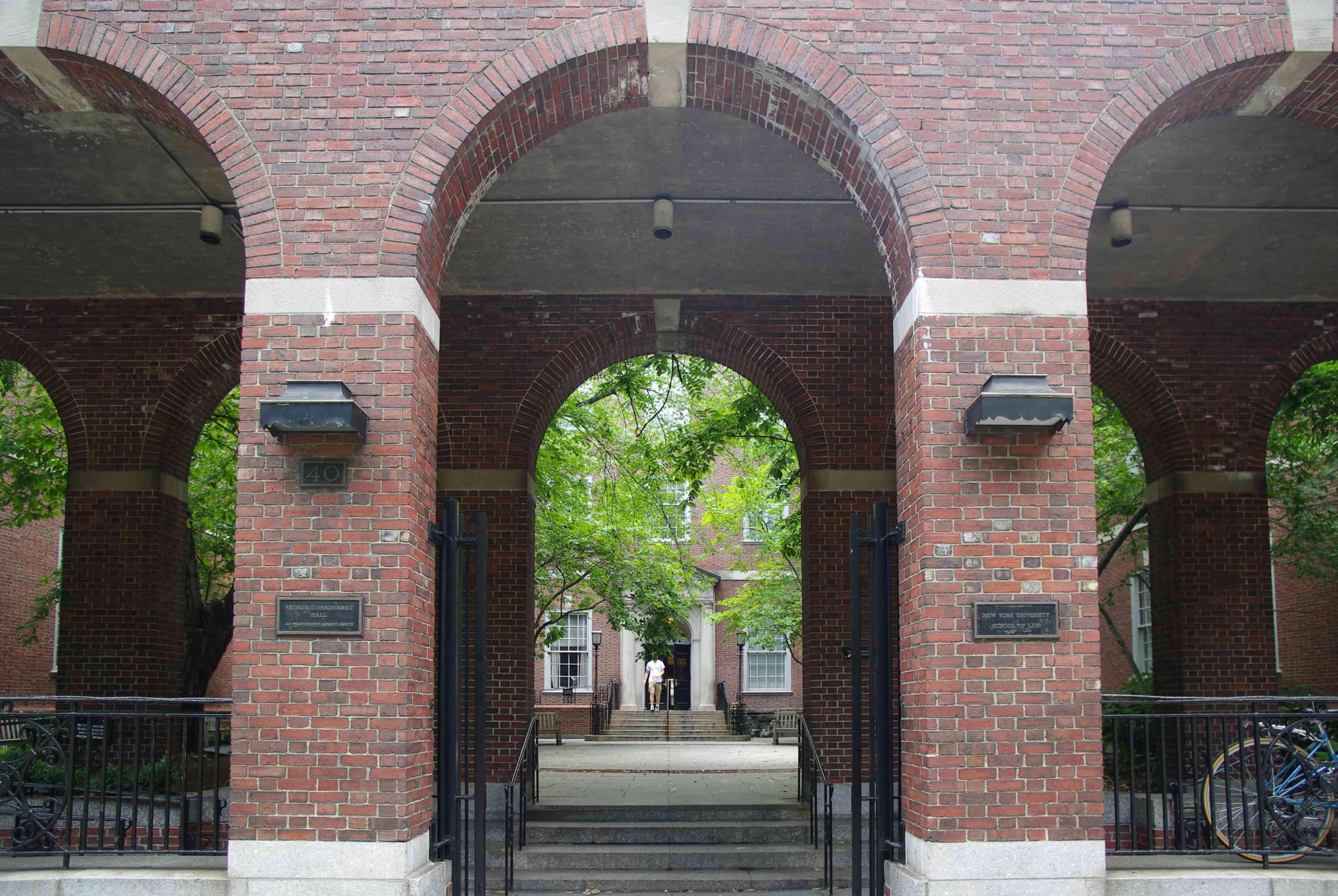 Archway at NYU Law School