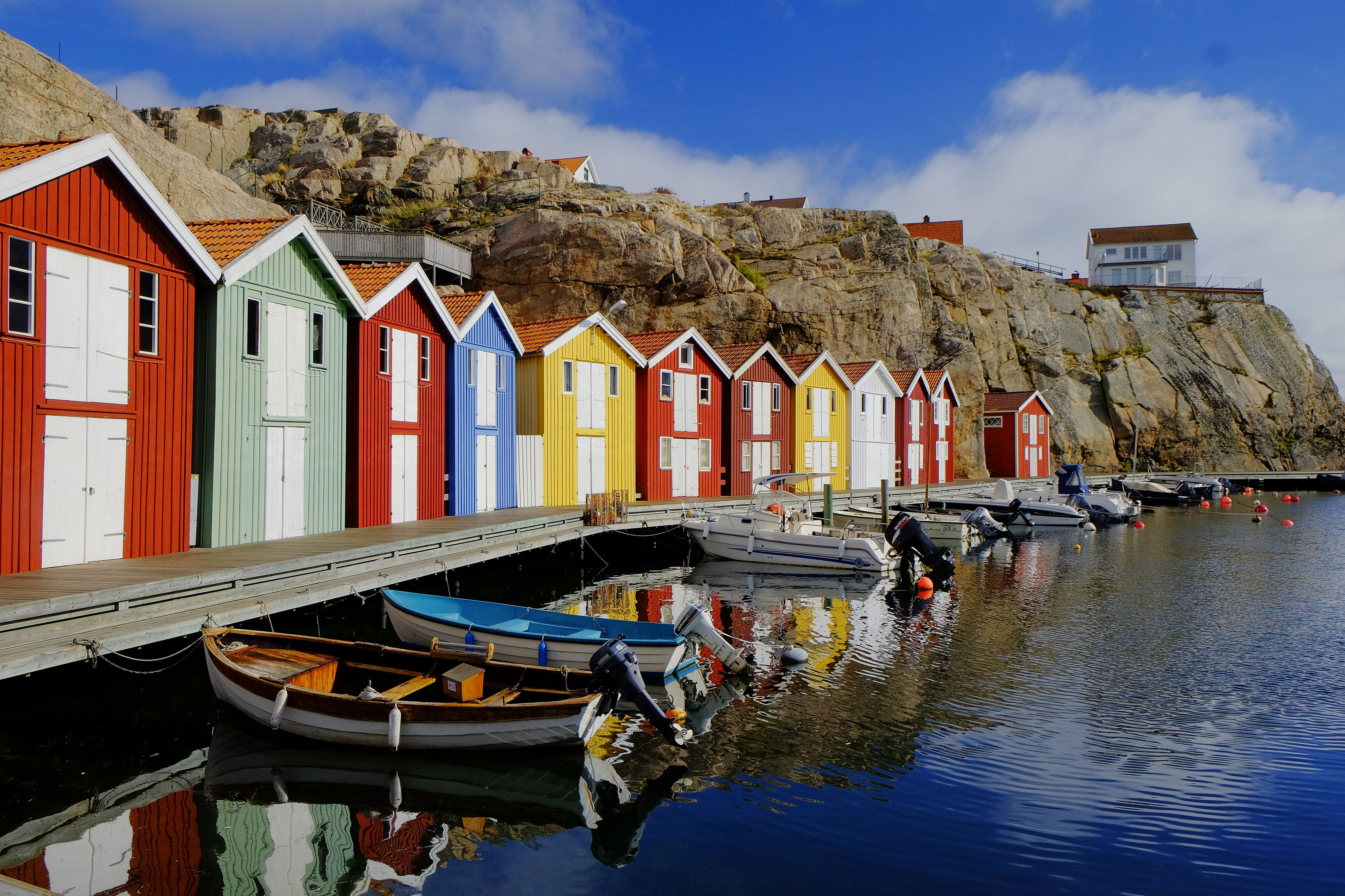Colorful fishing huts