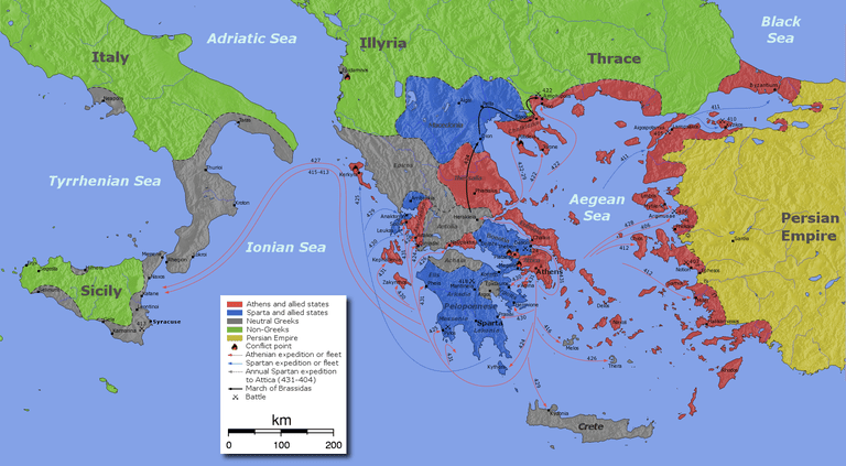 Map of Peloponnesian War