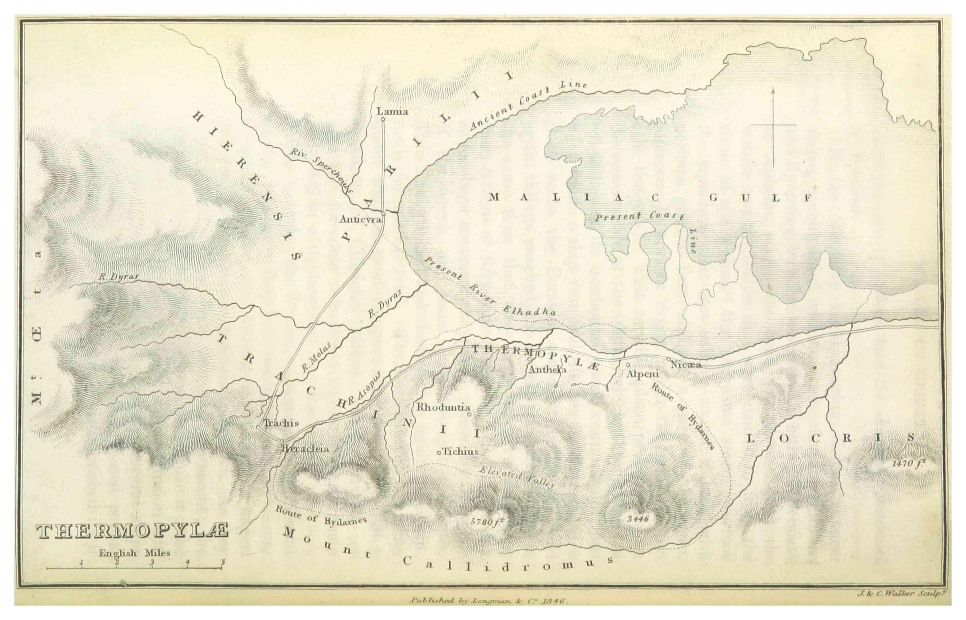 map of Thermopylae