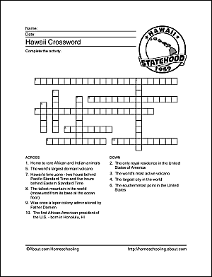 hawaii wordsearch crossword puzzle and more