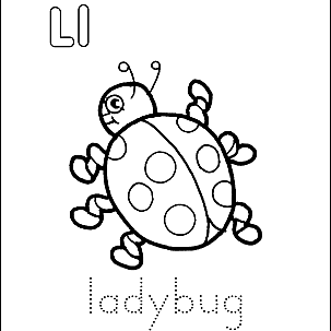 Letter L Coloring Book Free Printable Pages