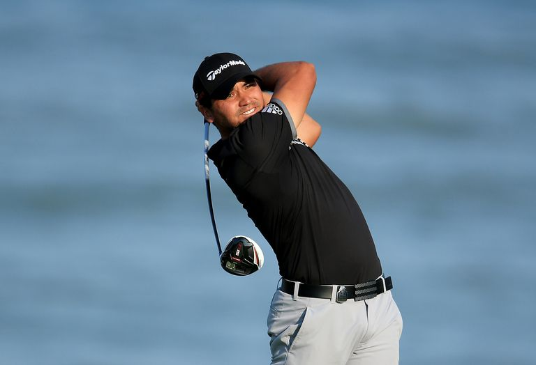 Jason Day teeing off the 18th hole during the final round of the 2015 PGA Championship