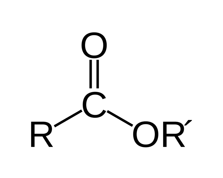 Ester functional group formula.