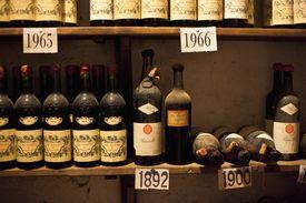 Wine bottles in Val d'Orcia