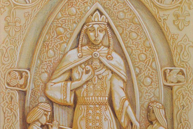 Russian painter Maximilian Presnyakov's (b. 1968) depiction of Lada, part of his Slavic cycle.