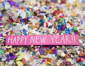 Happy New Year written on paper