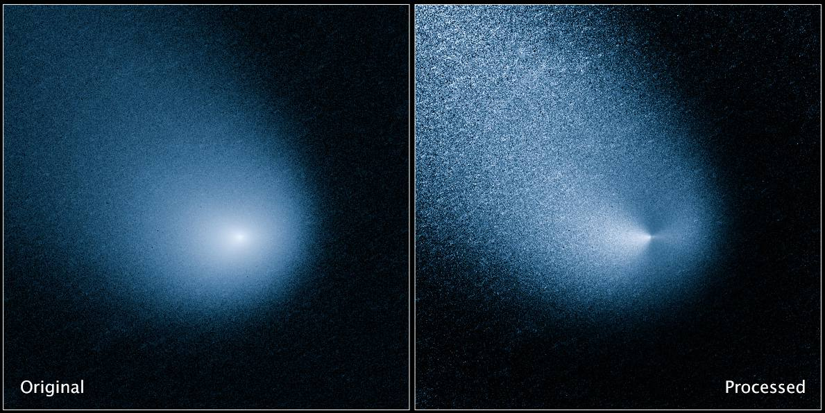 A comet as seen by Hubble Space Telescope