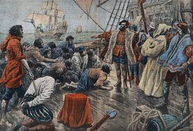 Ferdinand Magellan quelling a mutiny on his ship