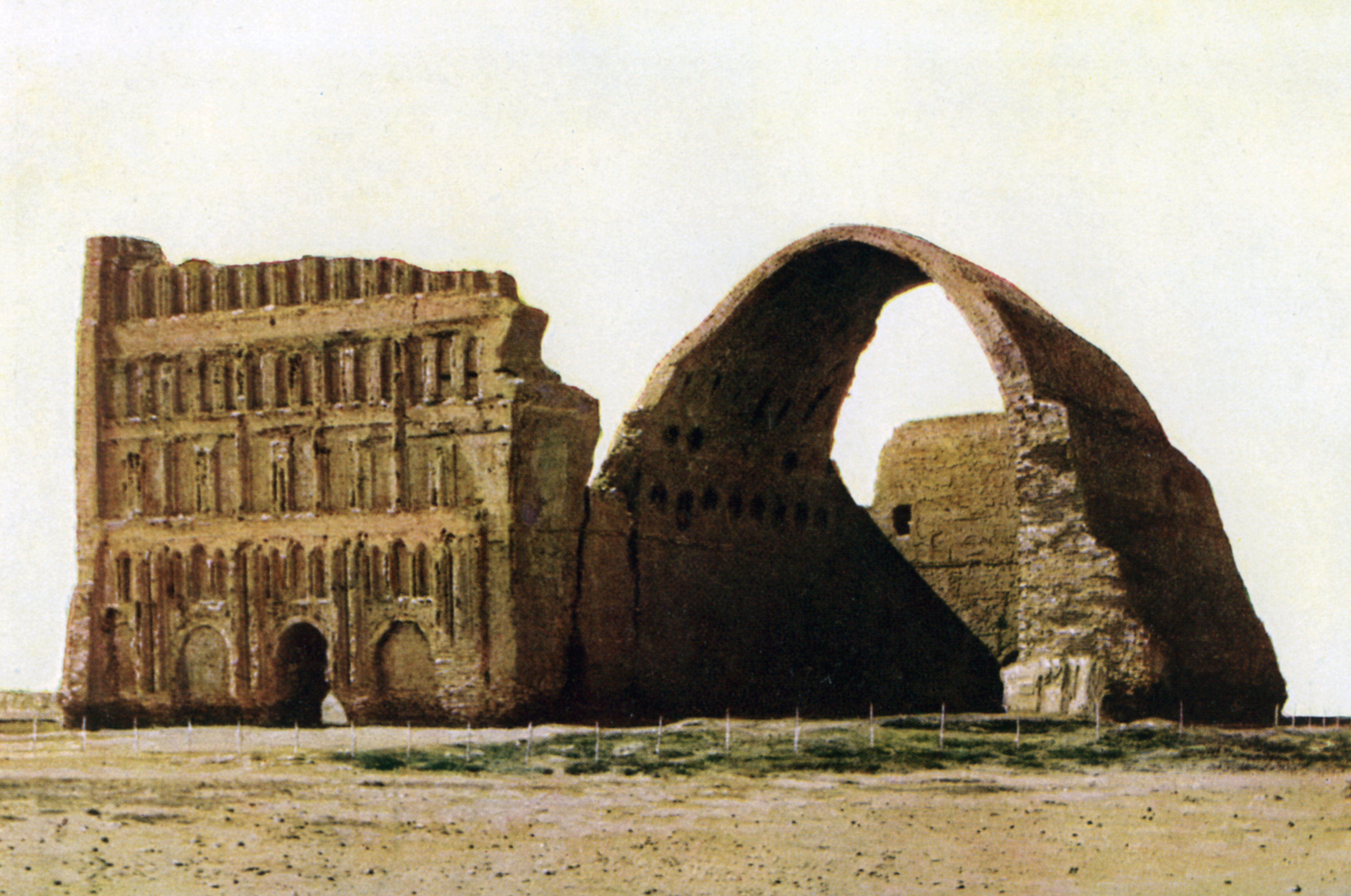 the largest single-span vault of unreinforced brickwork in the world, This great arch was the main portico of the audience hall of the imperial Persian palace