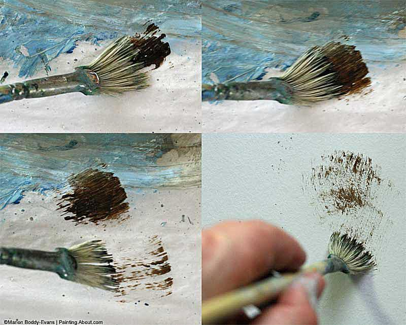 painting trees with a fan brush step by step acrylic - 800×641