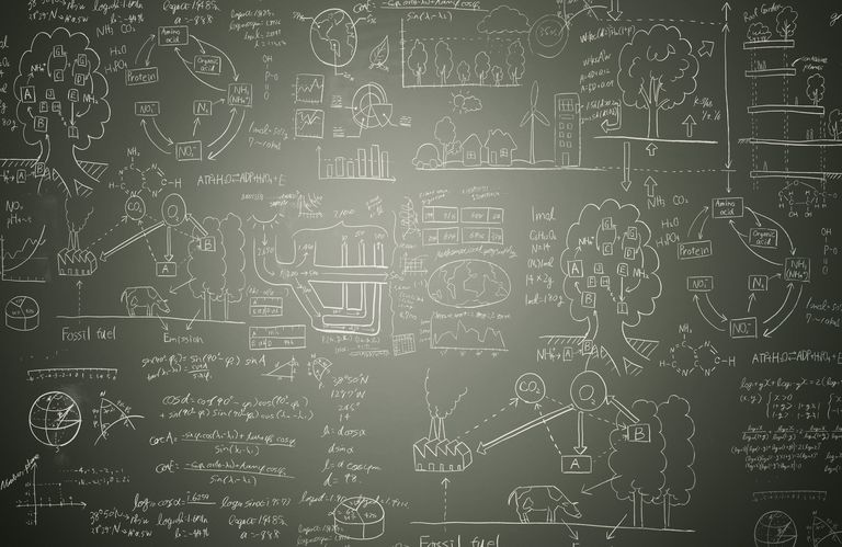 Math Problems on a Chalk Board