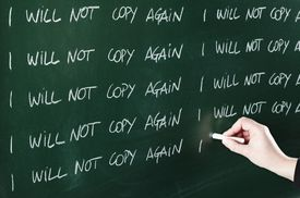 chalkboard repeated sentence