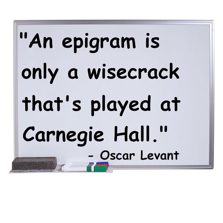 Definition And Examples Of Epigrams In English