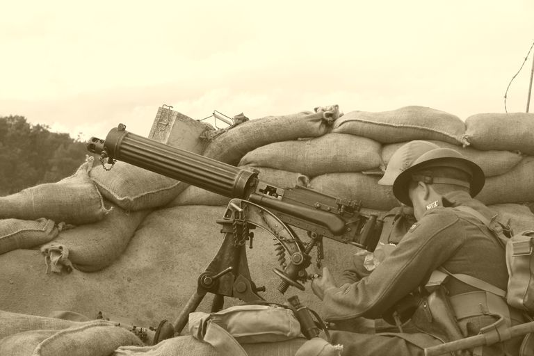 WWI Trench Sepia