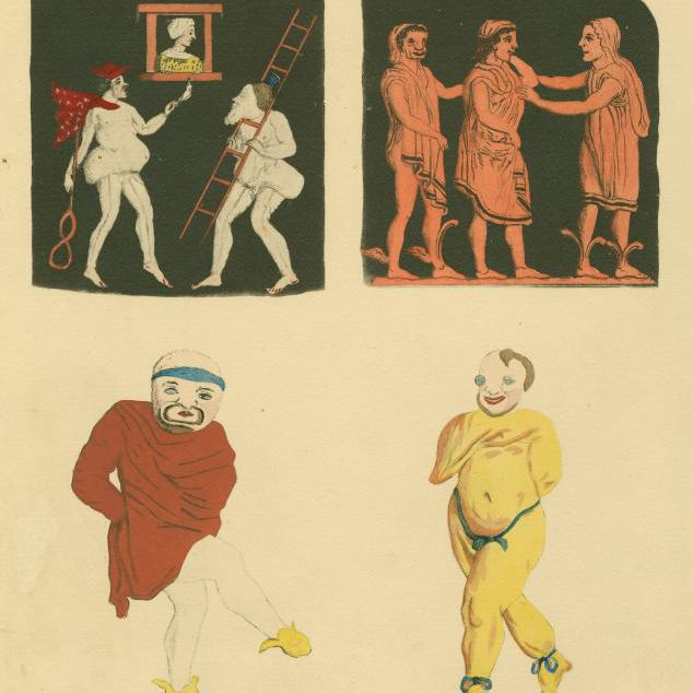 Image ID: 1624158 [Scenes and pantomime actors of Roman comedy] (1925)
