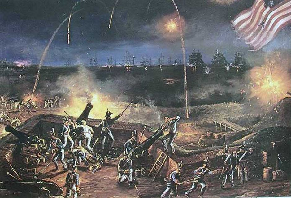 Fighting at Fort McHenry