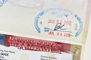 Sello de ingreso y visa de Estados Unidos.