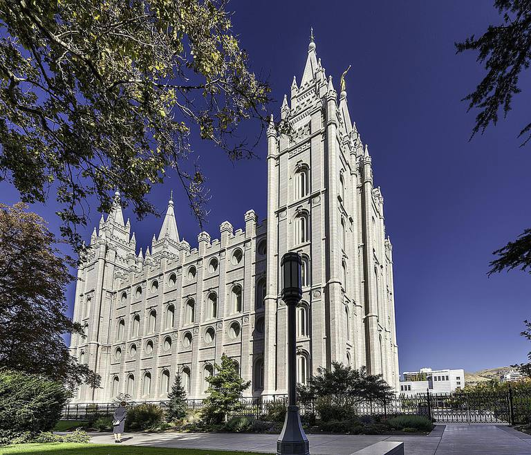 The Salt Lake Temple, Salt Lake City, Utah.
