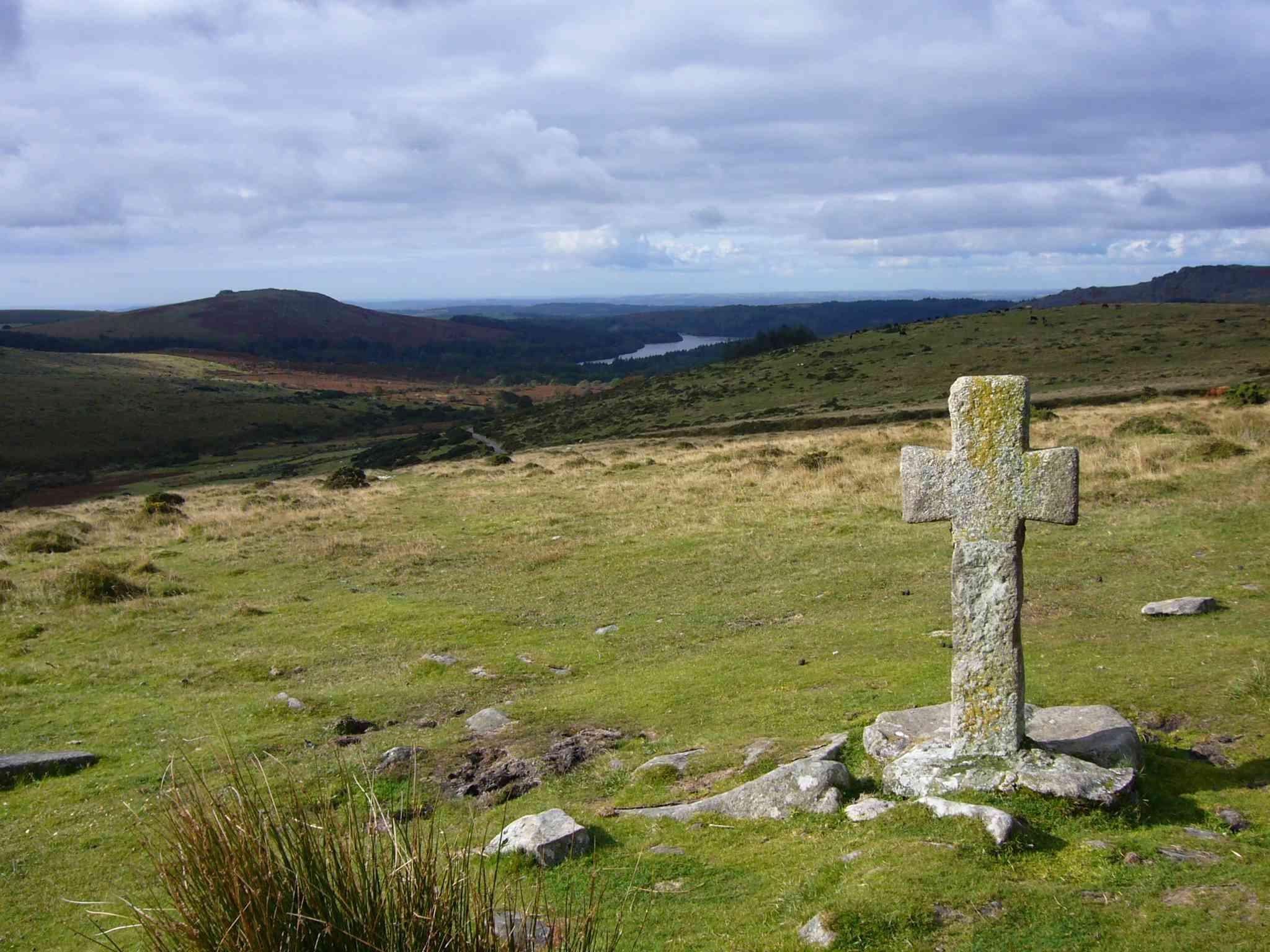 Das Crazywell-Kreuz in der Nähe von Dartmoor, neolithische Stätte.