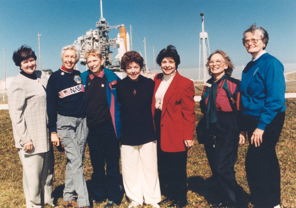 First Lady Astronaut Trainees (FLAT): 7 of Mercury 13 visit Kennedy Space Center, 1995