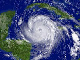 Satellite image of Hurricane Dean