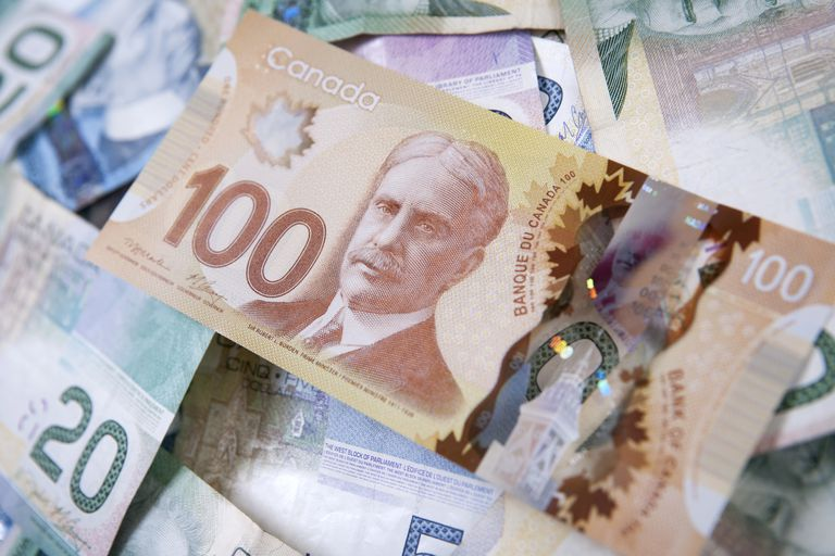 The new polymer Canadian $100 bill.
