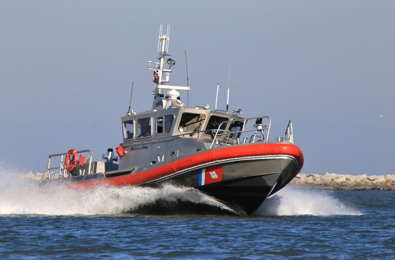 High Speed Coast Guard Patrol Boat, Cleveland, Ohio, USA