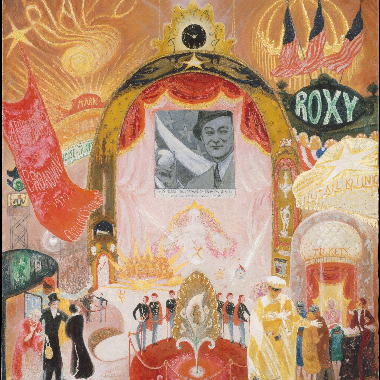 Florine Stettheimer, The Cathedrals of Broadway, 1929, Metropolitan Museum of Art.