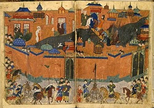 Hulagu Khan (grandson of Genghis) led the Mongols in their Middle Eastern campaign.