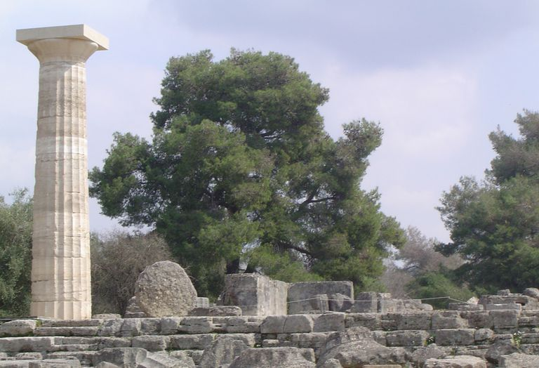 Ruins of the Temple of Zeus at Olympia