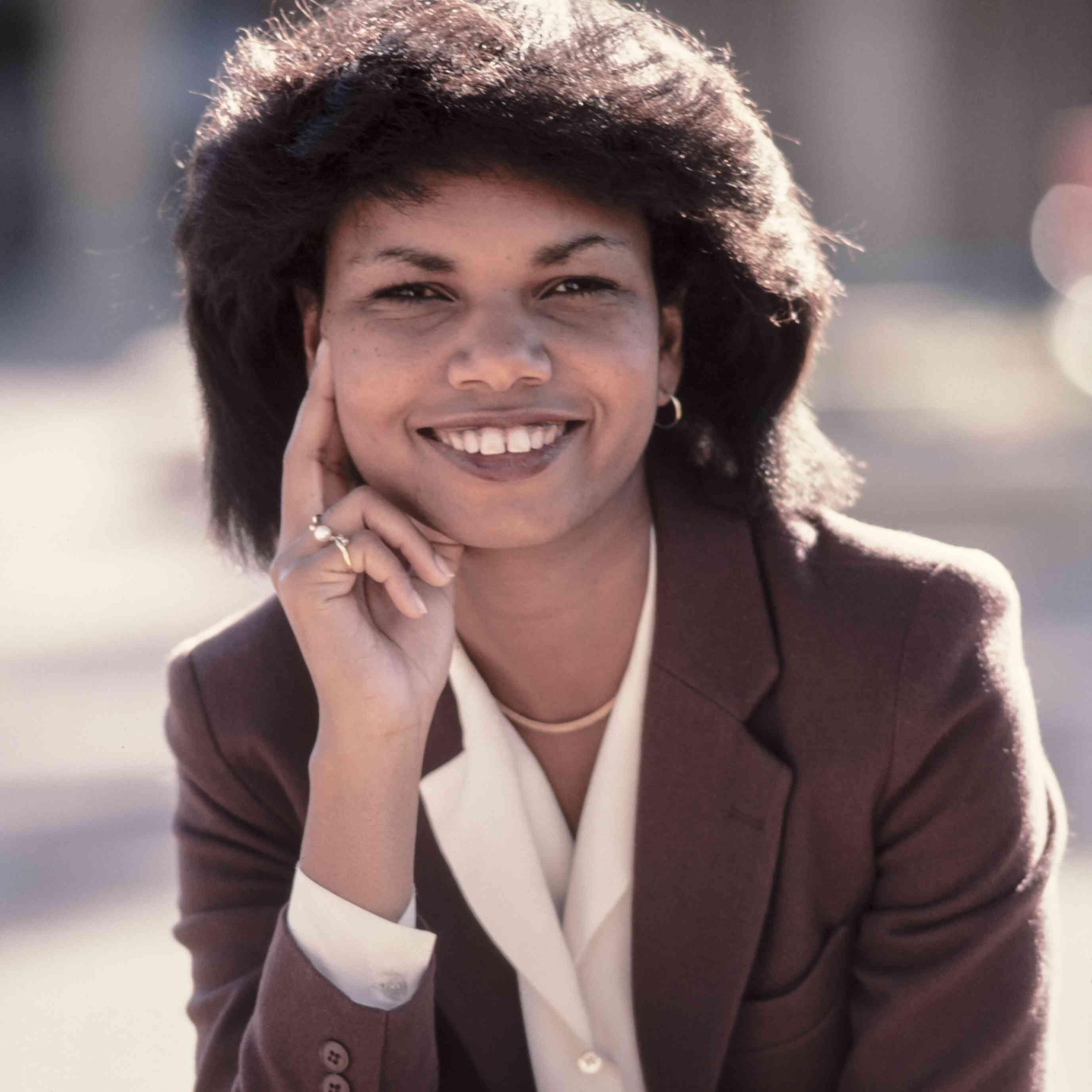 Professor Condoleezza Rice of Stanford University poses for a portrait in November 1985