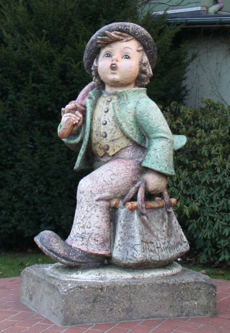 A Statue based on a Hummel and Goebel figurine
