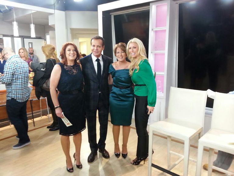 Brigette Dineen stands between Louis Licari and Jill Martin on the set of The Today Show.