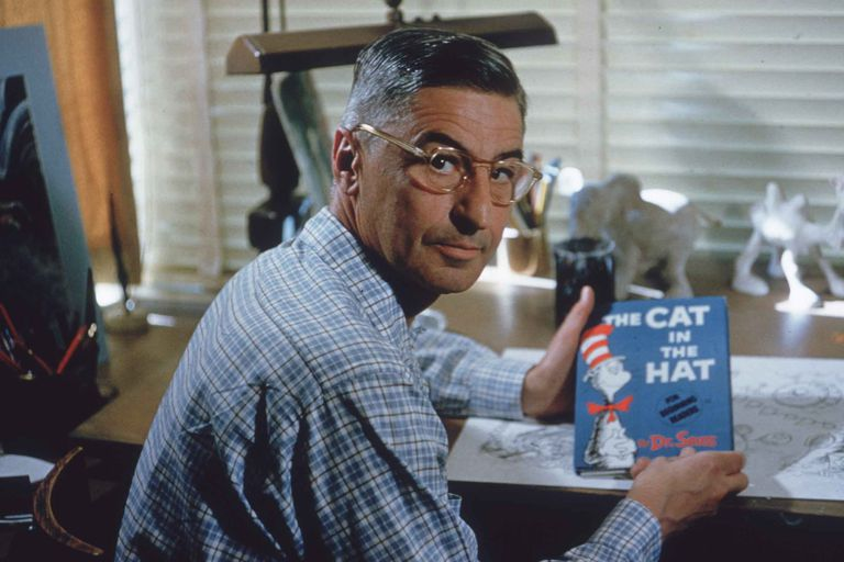 "Theodor Seuss Geisel, ""Dr. Seuss,"" in 1957"