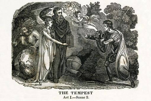 Illustration of William Shakespeare's play The Tempest
