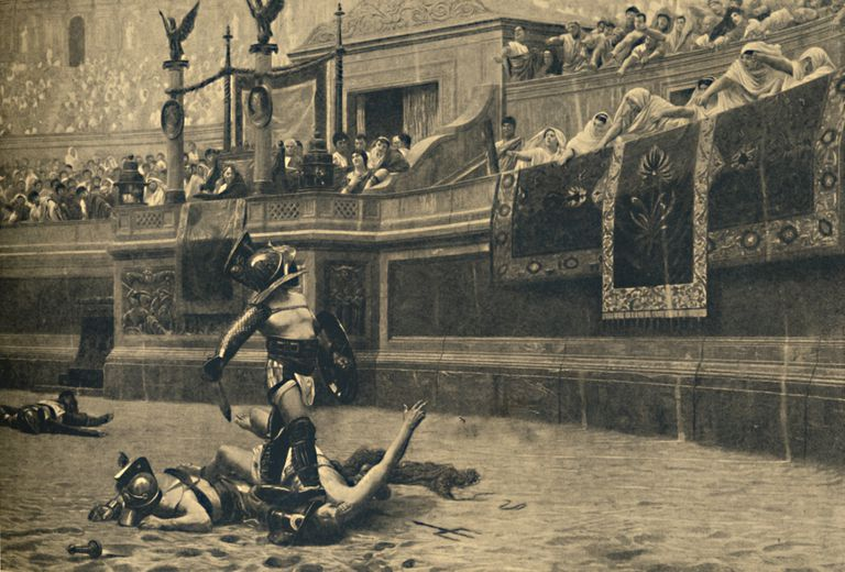 Thumbs down in a gladiatorial fight, 1910, author unknown