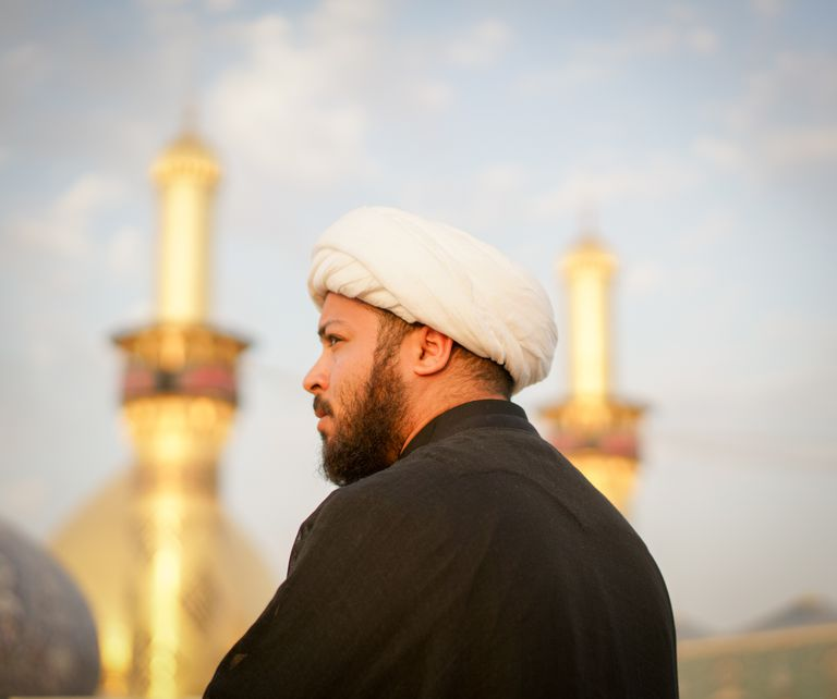 Muslim religious man in Karbala
