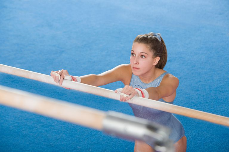 Gymnast with bars