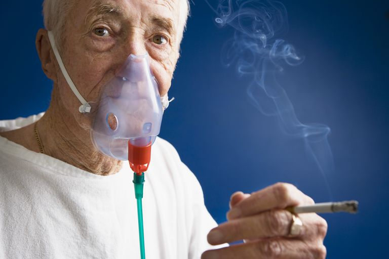 Smoking near an oxygen tank is not particularly dangerous because oxygen is not a flammable gas.